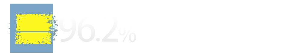 顧客満足度96.2%